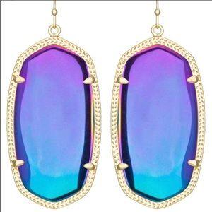Kendra Scott Black iridescent Danielle earrings